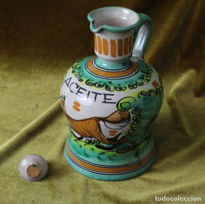 Antigüedades: Aceitera de cerámica de Puente del Arzobispo, 25 cm, 15 cm de diámetro - Foto 3 - 286811628