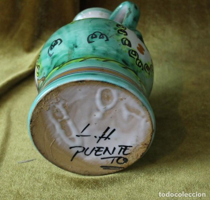 Antigüedades: Aceitera de cerámica de Puente del Arzobispo, 25 cm, 15 cm de diámetro - Foto 4 - 286811628