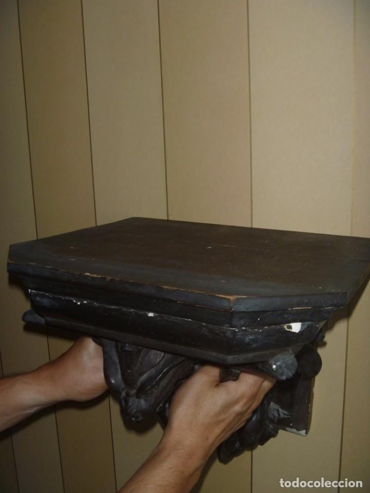 Antigüedades: GRAN MÉNSULA PEANA DRAGÓN ALADO 150 AÑOS ESTILO HARRY POTTER DRAGÓN WIKI - Foto 4 - 286828598