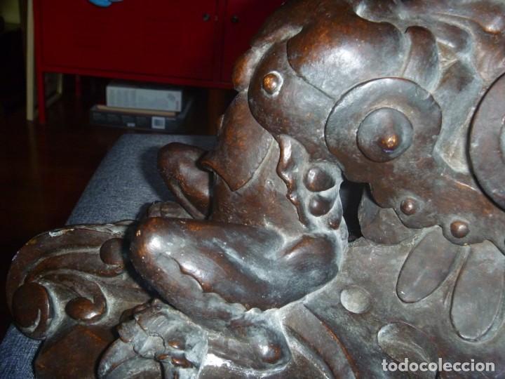 Antigüedades: GRAN MÉNSULA PEANA DRAGÓN ALADO 150 AÑOS ESTILO HARRY POTTER DRAGÓN WIKI - Foto 6 - 286828598