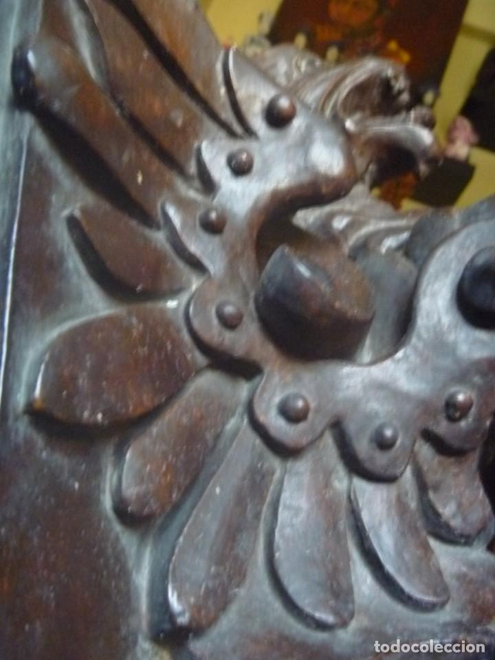 Antigüedades: GRAN MÉNSULA PEANA DRAGÓN ALADO 150 AÑOS ESTILO HARRY POTTER DRAGÓN WIKI - Foto 21 - 286828598