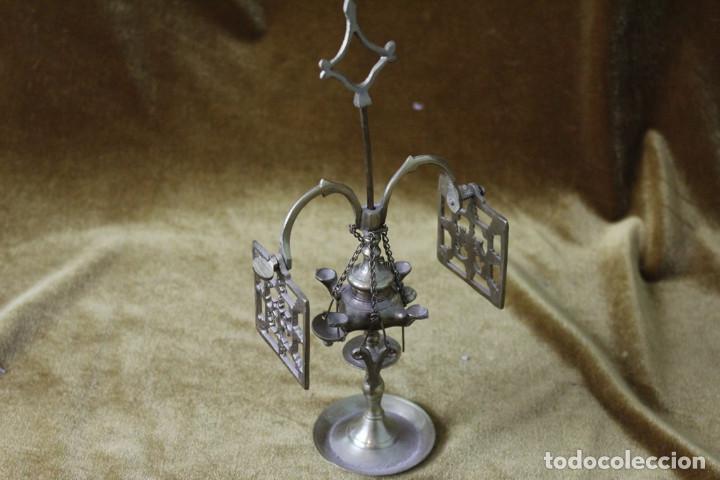 MINI CANDIL BRONCE, 23 CM ALTO (Antigüedades - Iluminación - Otros)