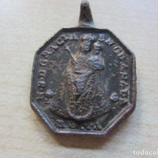 Antigüedades: MEDALLA DE NUESTRA SEÑORA DE GRACIA EN GRANADA Y JESÚS DE NAZARET S XVIII (MEDIDAS 3,2 X 2,2 CMS). Lote 286840703