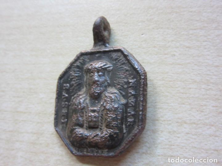 Antigüedades: Medalla de Nuestra Señora de Gracia en Granada y Jesús de Nazaret S XVIII (medidas 3,2 x 2,2 cms) - Foto 3 - 286840703