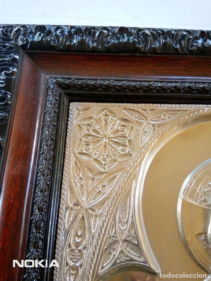 Antigüedades: SAGRADO CORAZON ¿ALPACA? - Foto 6 - 286854408