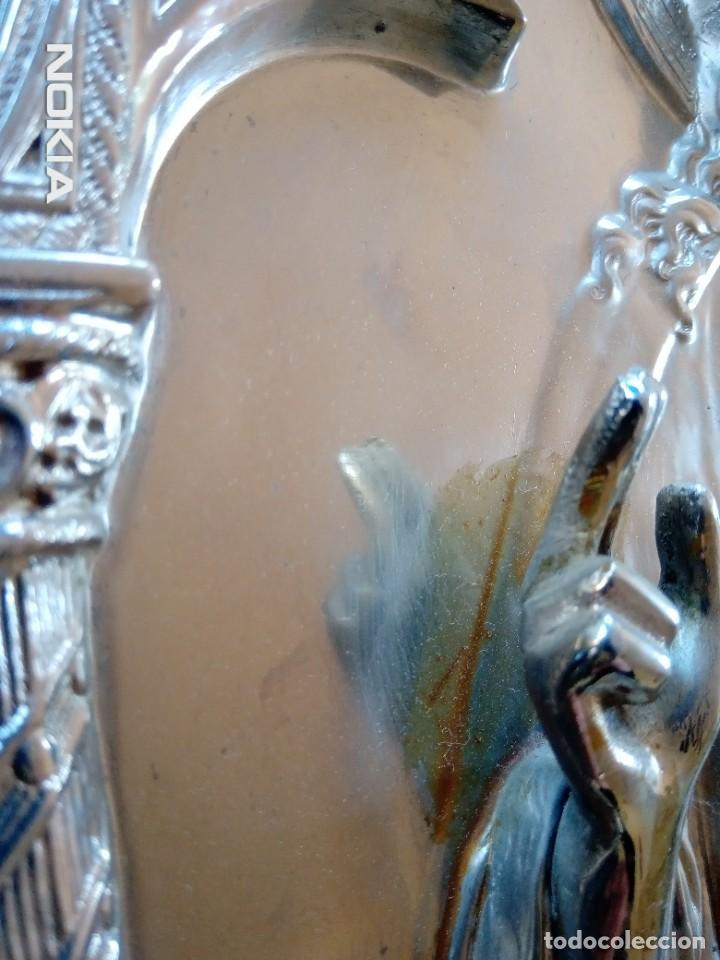 Antigüedades: SAGRADO CORAZON ¿ALPACA? - Foto 10 - 286854408