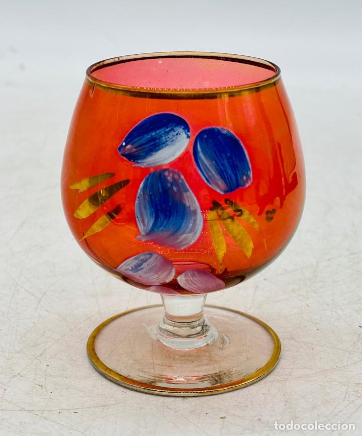 COPA CRISTAL BOHEMIA PINTADO (Antigüedades - Cristal y Vidrio - Bohemia)