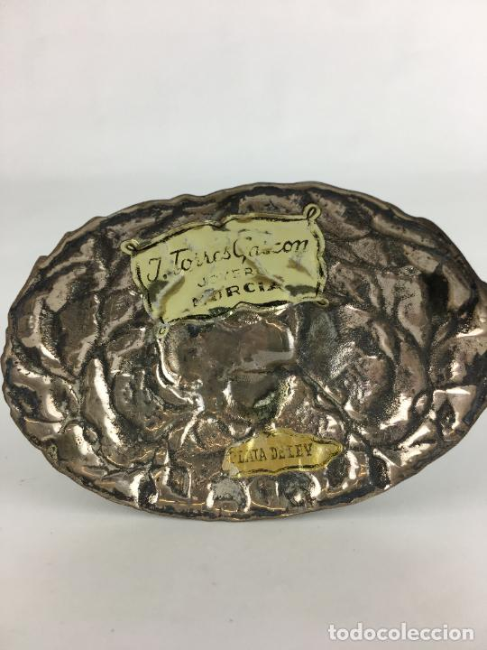 Antigüedades: fantastico crucifijo en plata de ley marcado y punzonado 130 gramos de plata 17 X 9 CM - Foto 4 - 286891933