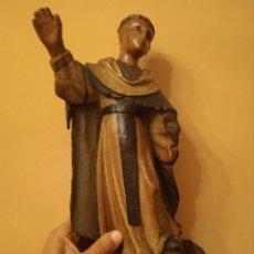 Antigüedades: TALLA RELIGIOSA DE MADERA POLICROMADA SANTO SIGLO XVIII. Lote 286901353