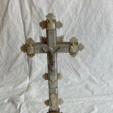 Oggetti Antichi: CRUZ EN NÁCAR Y MADERA, DE JERUSALÉN, S XX. Lote 286901718