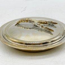 Antigüedades: RECIPIENTE PLATEADO DE BOGAVANTE. Lote 286923313
