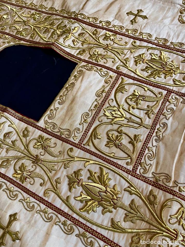 Antigüedades: Dalmática bordada en oro fino S.XIX - Foto 3 - 286940628