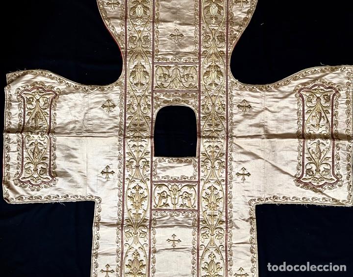 Antigüedades: Dalmática bordada en oro fino S.XIX - Foto 5 - 286940628