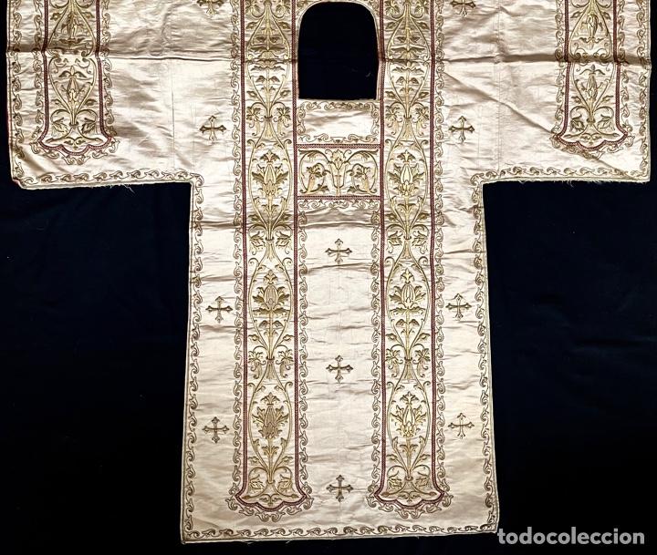 Antigüedades: Dalmática bordada en oro fino S.XIX - Foto 6 - 286940628