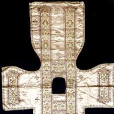 Antigüedades: DALMÁTICA BORDADA EN ORO FINO S.XIX. Lote 286940628