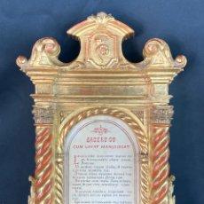 Antigüedades: SACRA. MADERA TALLADA, PAN DE ORO. NEOCLÁSICO. CARLOS IV. FINALES DEL SIGLO XVIII - PPS SXIX. Lote 286947723