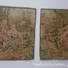 Antigüedades: PAREJA DE TAPICES. ENVIO GRATIS. Lote 286964268