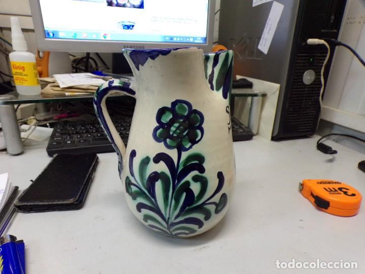 JARRA PORCELANA CERAMICA DE FAJALAUZA ALFAJALAUZA SANGRIA (Antigüedades - Porcelanas y Cerámicas - Fajalauza)
