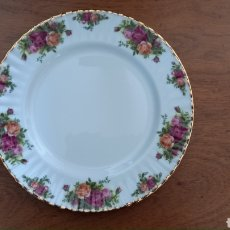 Antiquités: PLATO ROYAL ALBERT OLD COUNTRY ROSES. Lote 286971363