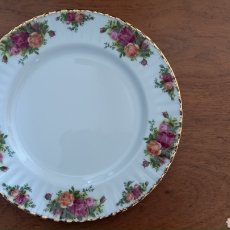 Antiquités: PLATO ROYAL ALBERT OLD COUNTRY ROSES. Lote 286971448