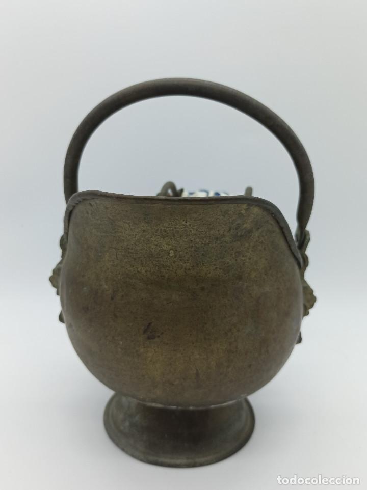 Antigüedades: JARRON METALICO - Foto 2 - 286986248