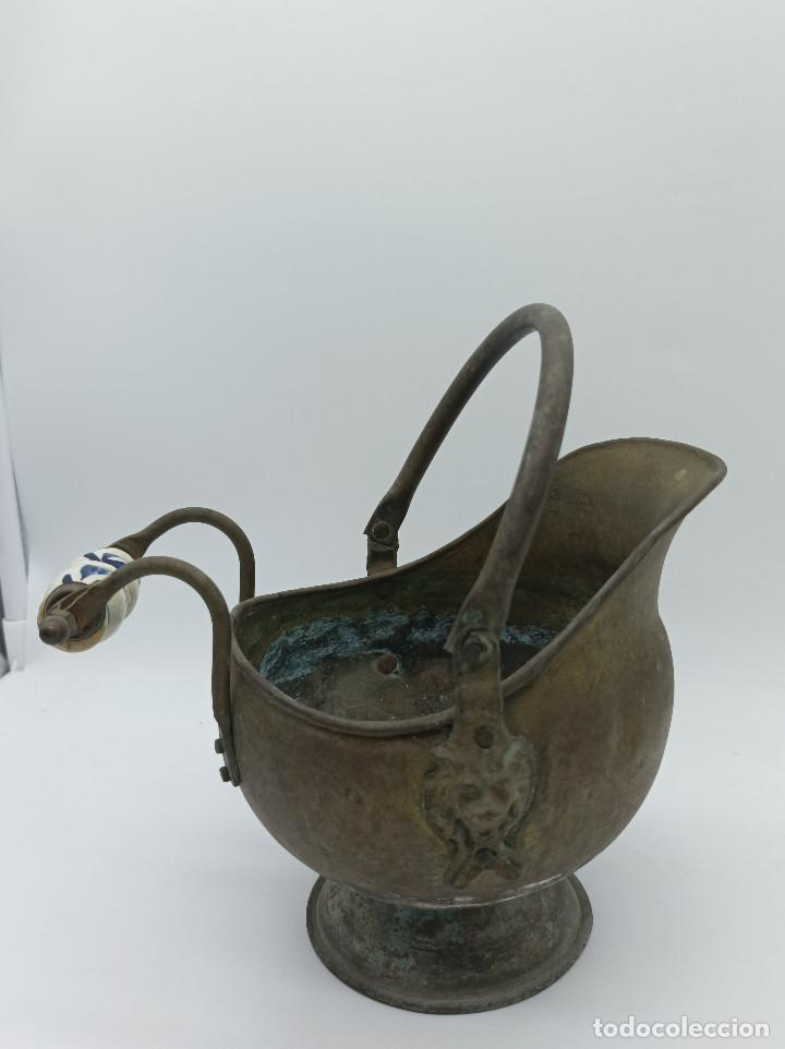 Antigüedades: JARRON METALICO - Foto 3 - 286986248