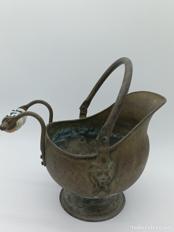 Antigüedades: JARRON METALICO - Foto 4 - 286986248