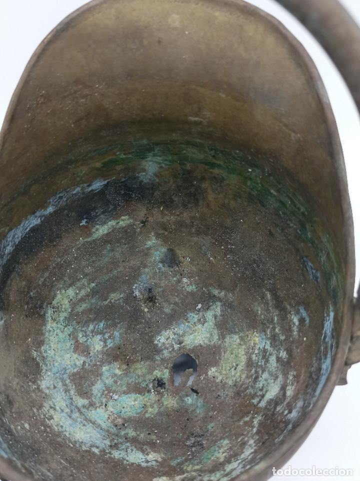 Antigüedades: JARRON METALICO - Foto 6 - 286986248