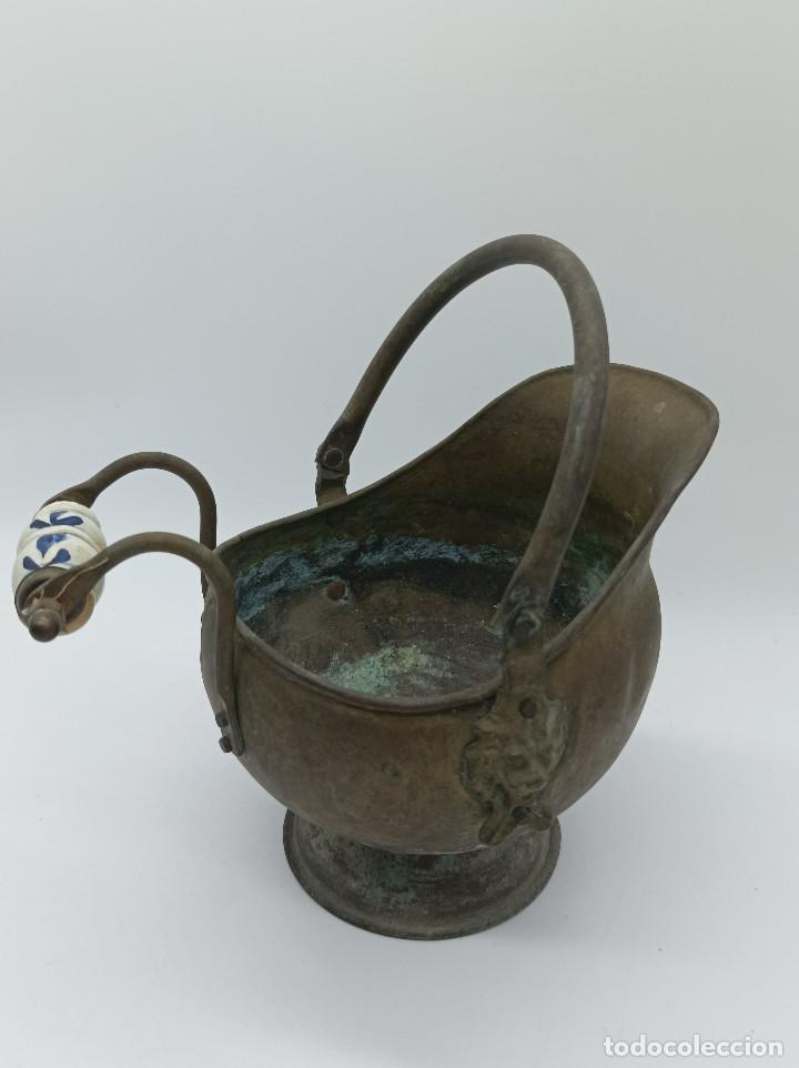 Antigüedades: JARRON METALICO - Foto 7 - 286986248
