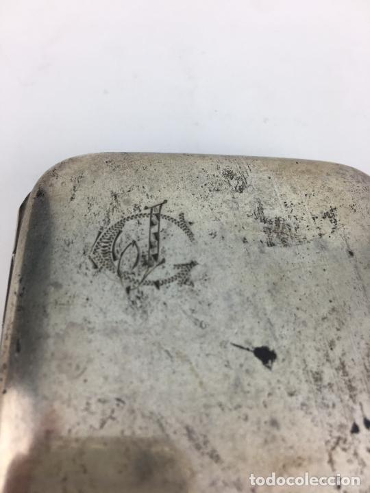 Antigüedades: Pitillera de Plata de ley años 20 - punzonada en el cierre - 72 gramos - Foto 3 - 287006958