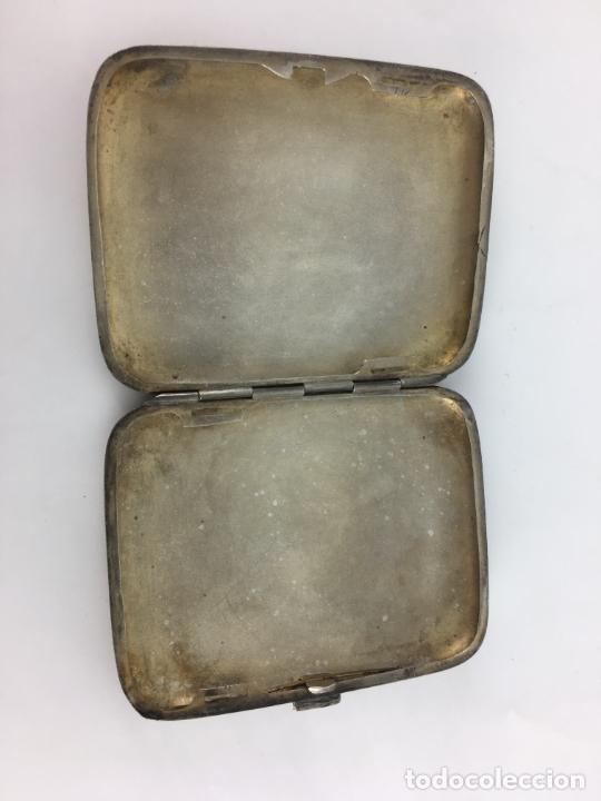 Antigüedades: Pitillera de Plata de ley años 20 - punzonada en el cierre - 72 gramos - Foto 4 - 287006958