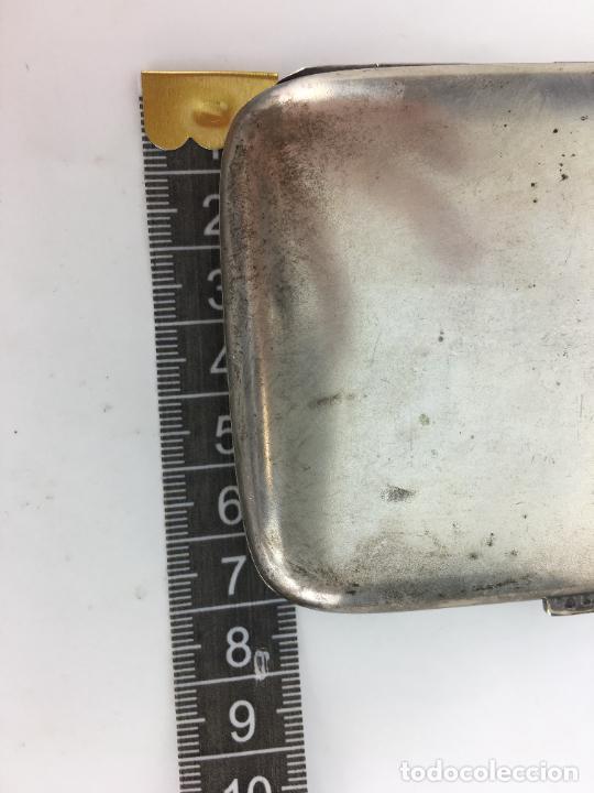 Antigüedades: Pitillera de Plata de ley años 20 - punzonada en el cierre - 72 gramos - Foto 7 - 287006958
