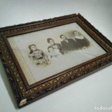Antigüedades: ¡LIQUIDO TODO A 9,99! VIEJO MARCO FOTOGRAFÍA FAMILIA MATARÓ, ESTUDIO ESTRANY. Lote 287060358