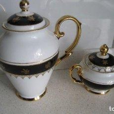 Antigüedades: ANTIGUA Y BONITA CAFETERA Y AZUCARERO DE LIMOGES BUEN ESTADO. Lote 287095263
