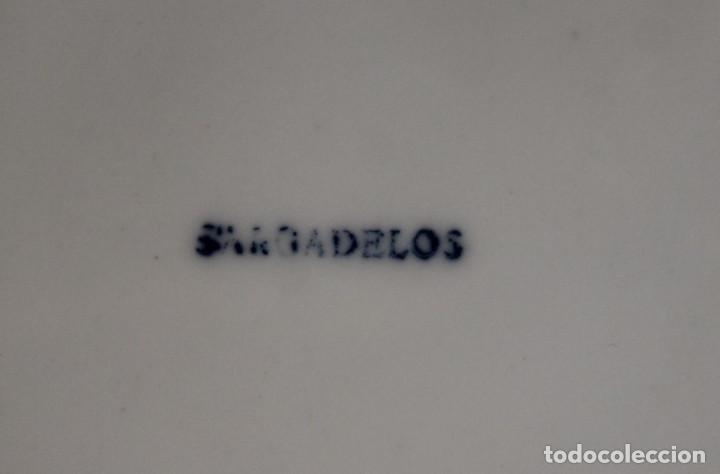 Antigüedades: Piezas de queimada Sargadelos, base y nueve pocillos - Foto 5 - 276668778