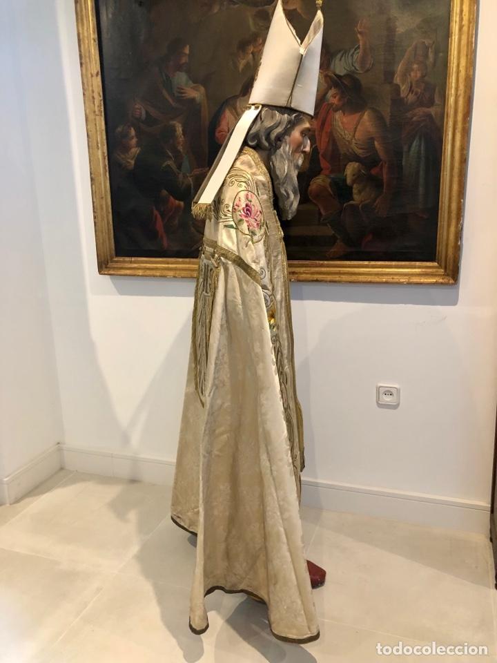 Antigüedades: Capa pluvial en seda blanca. Bordados. Siglo XIX. Flor de lis. - Foto 4 - 287141878