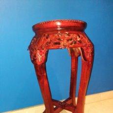 Antiquités: ANTIGUA MESA CHINA, PEDESTAL. Lote 287145833
