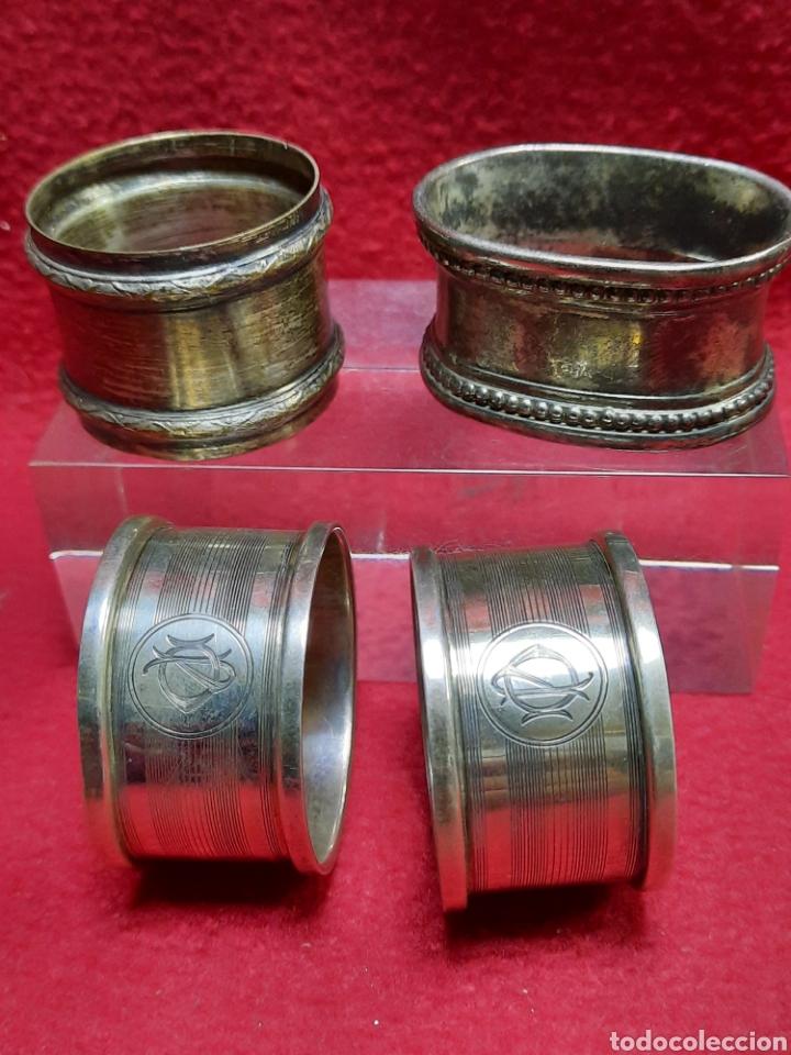Antigüedades: Servilleteros plata o alpaca ??? - Foto 2 - 287149968