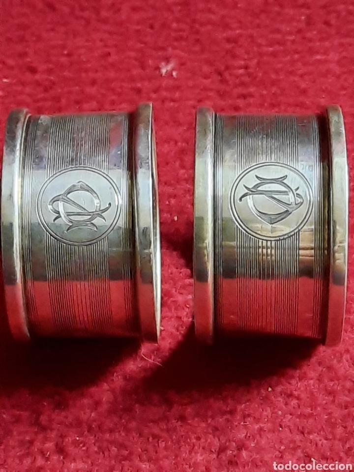 Antigüedades: Servilleteros plata o alpaca ??? - Foto 5 - 287149968