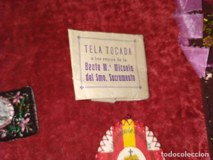Antigüedades: COLECCIÓN DE ESCAPULARIOS Y RELICARIOS DE TELA. EUROPA. SIGLO XIX-XX - Foto 3 - 287240513