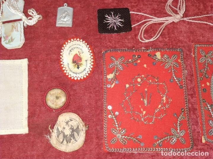 Antigüedades: COLECCIÓN DE ESCAPULARIOS Y RELICARIOS DE TELA. EUROPA. SIGLO XIX-XX - Foto 7 - 287240513