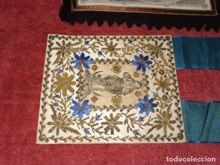 Antigüedades: COLECCIÓN DE ESCAPULARIOS Y RELICARIOS DE TELA. EUROPA. SIGLO XIX-XX - Foto 11 - 287240513