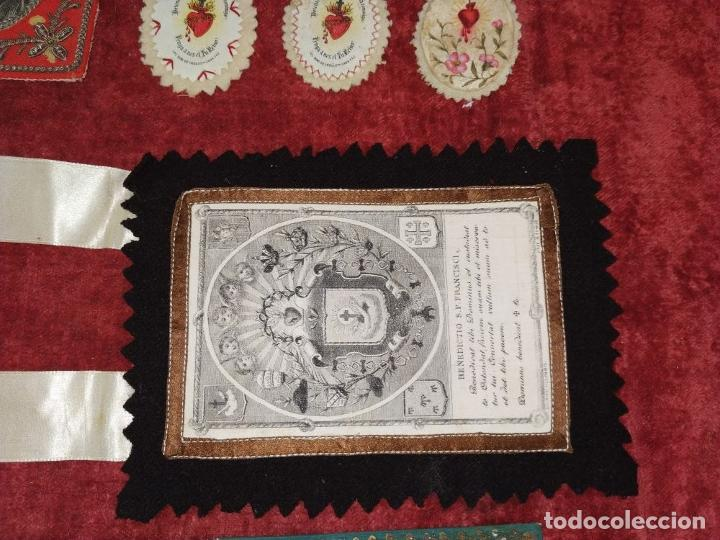 Antigüedades: COLECCIÓN DE ESCAPULARIOS Y RELICARIOS DE TELA. EUROPA. SIGLO XIX-XX - Foto 13 - 287240513