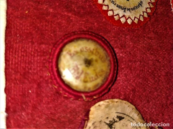 Antigüedades: COLECCIÓN DE ESCAPULARIOS Y RELICARIOS DE TELA. EUROPA. SIGLO XIX-XX - Foto 22 - 287240513