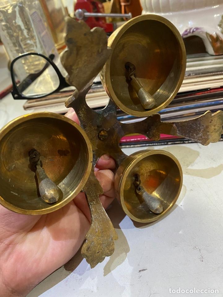 Antigüedades: Campanillas Litúrgicas o Campanas de Misa para la consagración, buen estado, bronce.medidas 16x14 cm - Foto 16 - 287247453