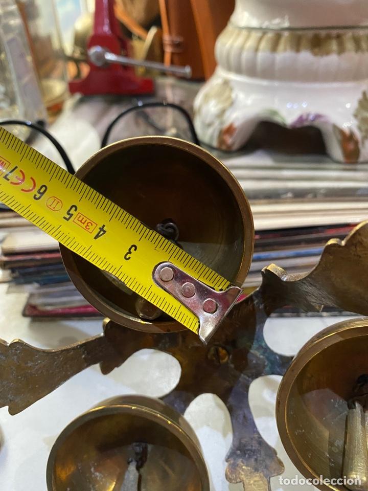 Antigüedades: Campanillas Litúrgicas o Campanas de Misa para la consagración, buen estado, bronce.medidas 16x14 cm - Foto 12 - 287247453