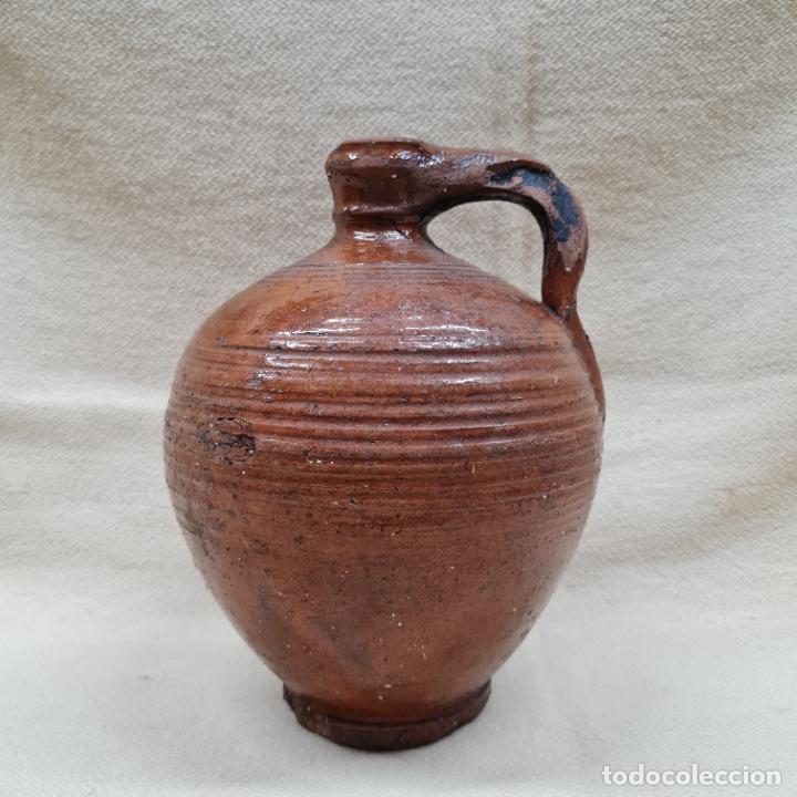Antigüedades: MAGNIFICA PERULA VIDRIADA EN MELADO EN CERAMICA DE UBEDA,(JAEN),S. XIX - Foto 2 - 287255828