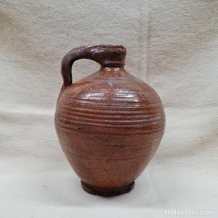 MAGNIFICA PERULA VIDRIADA EN MELADO EN CERAMICA DE UBEDA,(JAEN),S. XIX (Antigüedades - Porcelanas y Cerámicas - Úbeda)
