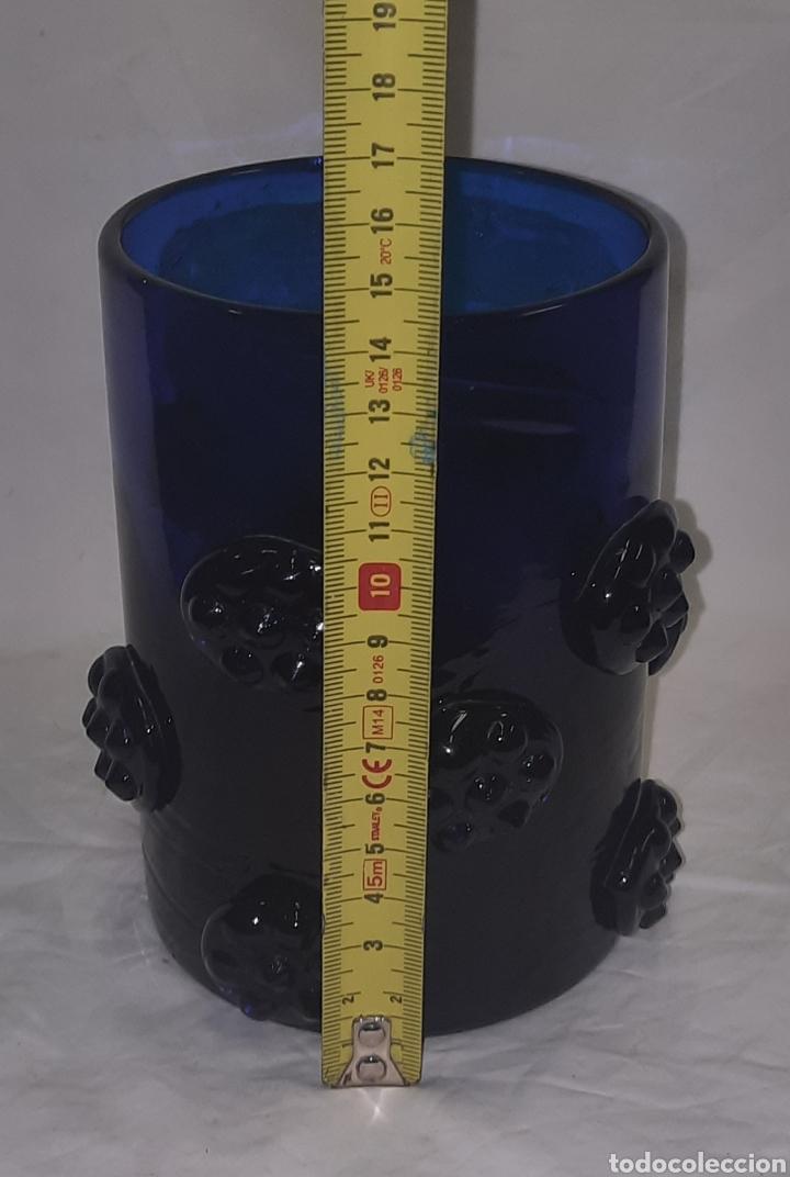 Antigüedades: Vaso de cristal Mallorquin azul cobalto - Foto 5 - 287265958