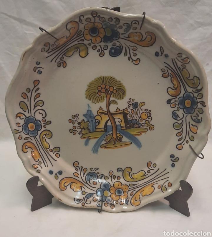 PLATO DE TALAVERA RUIZ DE LUNA (Antigüedades - Porcelanas y Cerámicas - Talavera)